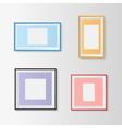 Blank picture frames set vector image
