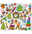 new year and christmas set vector image