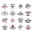 a large set logos and emblems vector image