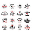 a large set of logos and emblems for vector image vector image