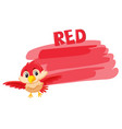 a red bird and painting color vector image vector image
