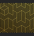 abstract geometric gold pattern background vector image vector image