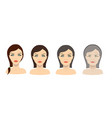 aging process young girl and older woman vector image