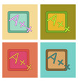 assembly flat icons exam score excellent vector image vector image