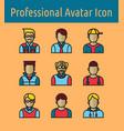 avata color line icon2 vector image vector image