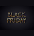 black friday sale banner or poster design vector image vector image