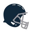 blue football helmet protection equipment side vector image vector image
