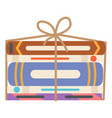 books wrapped in rope garage sale selling vector image vector image