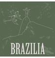Brazilia landmarks Retro styled image vector image