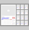 calendar for 2020 new year in clean minimal table vector image vector image