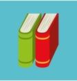 cartoon books pile school design vector image