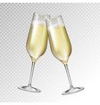 champagne glass isolated on transperent background vector image