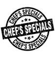 chefs specials round grunge black stamp vector image vector image