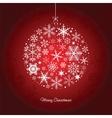 christmas ball snowflakes vector image