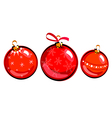 Christmas balls drawing vector image vector image