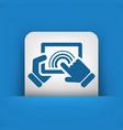 click tablet touchscreen vector image vector image
