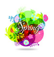 Colorful Abstract Flower Background Spring Floral vector image vector image