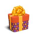 Colorful Violet and Orange Celebration Gift Box vector image vector image