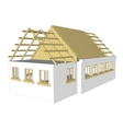 cottage white house vector image