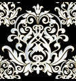 damask baroque vintage seamless pattern vector image vector image
