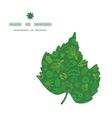 ecology symbols leaf silhouette pattern frame vector image vector image