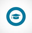 education bold blue border circle icon vector image vector image