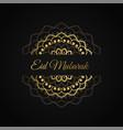 eid mubarak islamic design in golden color vector image vector image