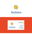 flat clock logo and visiting card template vector image vector image