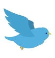 Flying blue bird vector image
