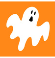 Funny flying ghost Greeting card Cute cartoon vector image vector image