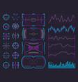 Futuristic ui design hologram screens chart