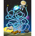Game template with astronaut in space vector image vector image