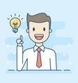 happy businessman having a good idea vector image vector image