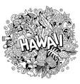 hawaii hand drawn cartoon doodle vector image vector image