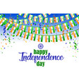 indian independence day 2 vector image vector image