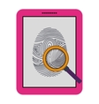 Isolated fingerprint and laptop design vector image