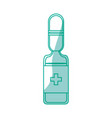 isolated medicine liquid bottle vector image vector image