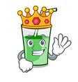 king green smoothie mascot cartoon vector image vector image