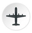 large aircraft with missiles icon circle vector image vector image
