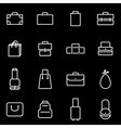 line bag icon set vector image