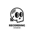 logo recording studio line art style vector image