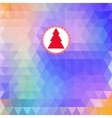 Merry Christmas card abstract geometric background vector image