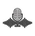 microphone audio with notes vector image vector image