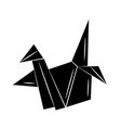 minimalist tattoo boho origami paper duck vector image vector image