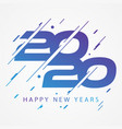 modern and colorful design 2020 happy new year vector image vector image