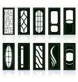 modern front doors vector image vector image