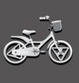 monochrome of a children bike wheeled eco vector image