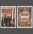 music shop middle east vintage posters vector image vector image