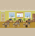 office room interior with many working employee vector image vector image