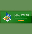 online banking banner vector image vector image